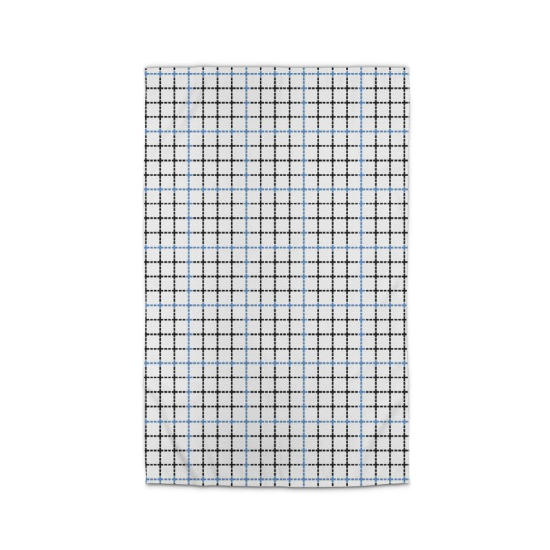 Dotted Grid Weave Blue Black Home Rug by Project M's Artist Shop