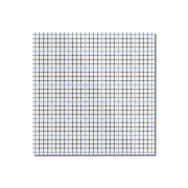Dotted Grid Weave Blue Black Home Mounted Acrylic Print by Project M's Artist Shop