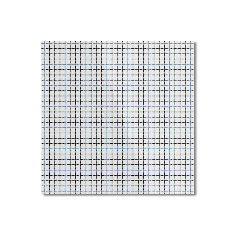 Dotted Grid Weave Blue Black Home Mounted Aluminum Print by Project M's Artist Shop