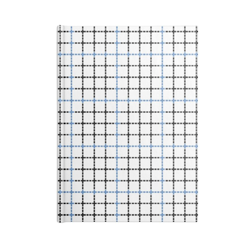 Dotted Grid Weave Blue Black Accessories Notebook by Project M's Artist Shop