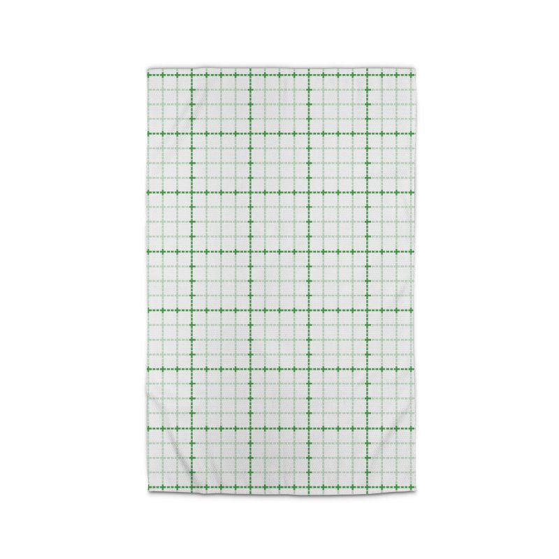 Dotted Grid Weave Green on White Home Rug by Project M's Artist Shop