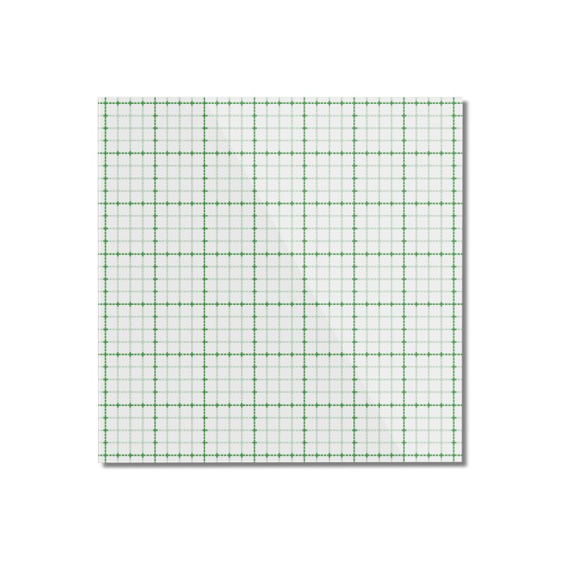 Dotted Grid Weave Green on White Home Mounted Acrylic Print by Project M's Artist Shop