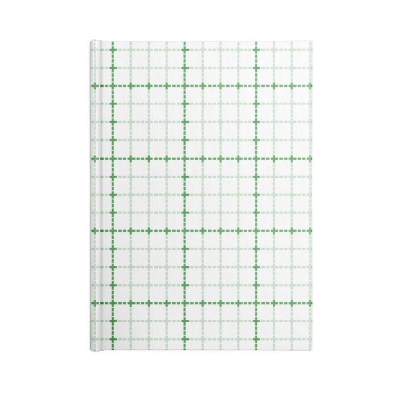 Dotted Grid Weave Green on White Accessories Notebook by Project M's Artist Shop