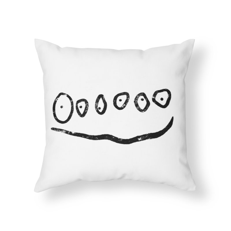 Smilie Eyes Home Throw Pillow by Project M's Artist Shop