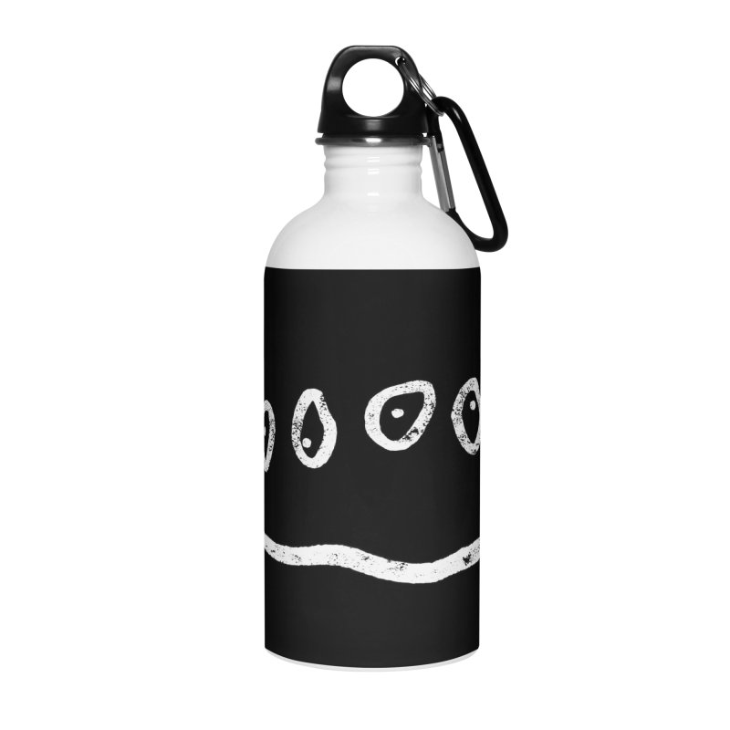 Smilie Eyes Black Accessories Water Bottle by Project M's Artist Shop