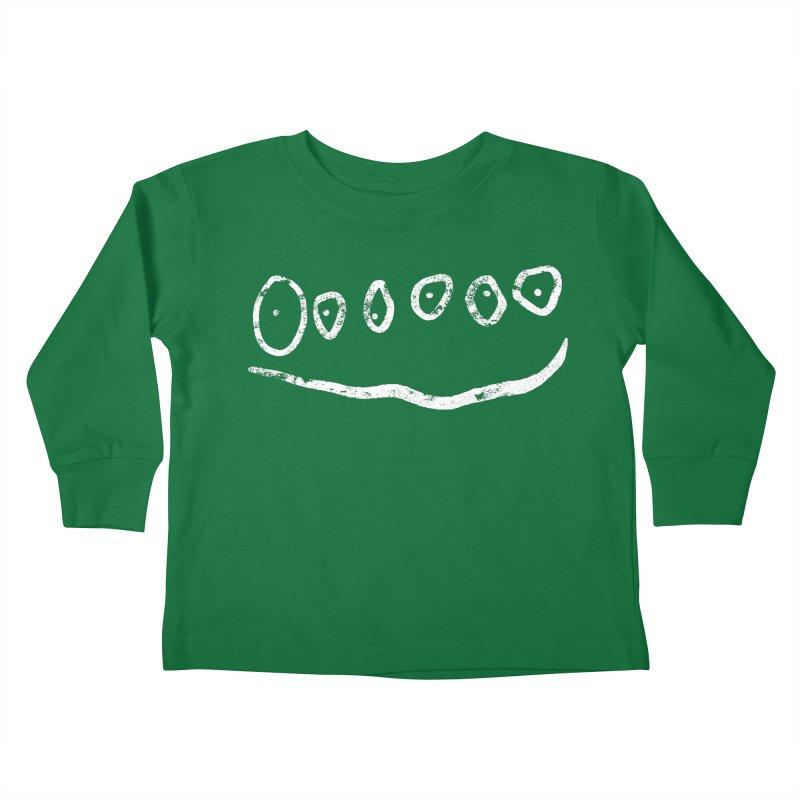 Smilie Eyes Black Kids Toddler Longsleeve T-Shirt by Project M's Artist Shop