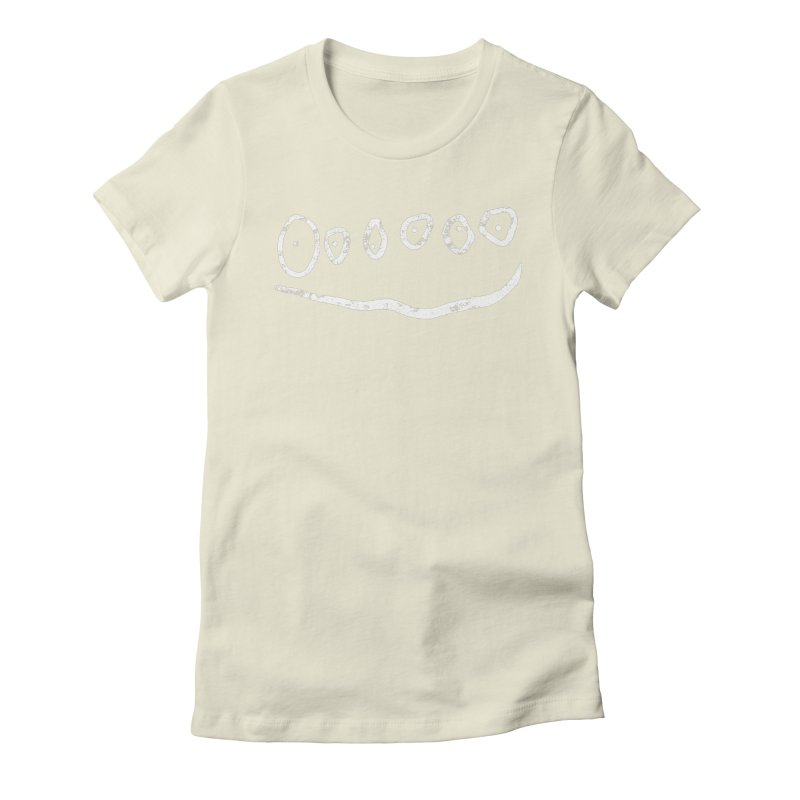 Smilie Eyes Black Women's Fitted T-Shirt by Project M's Artist Shop