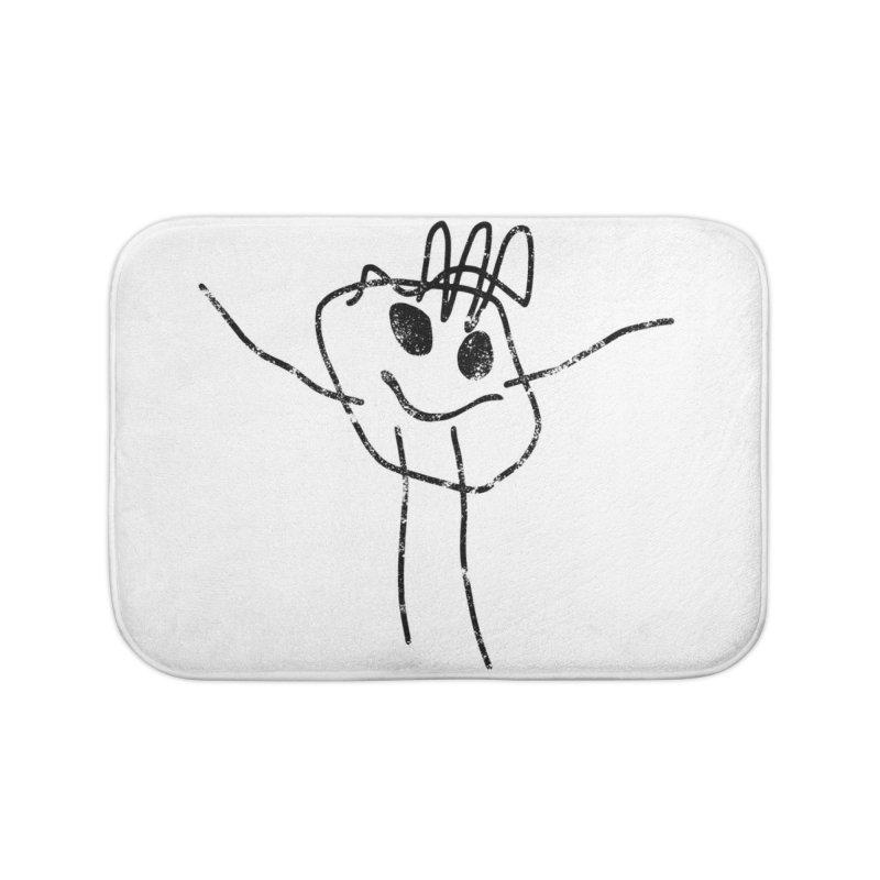 Smilie Man Home Bath Mat by Project M's Artist Shop