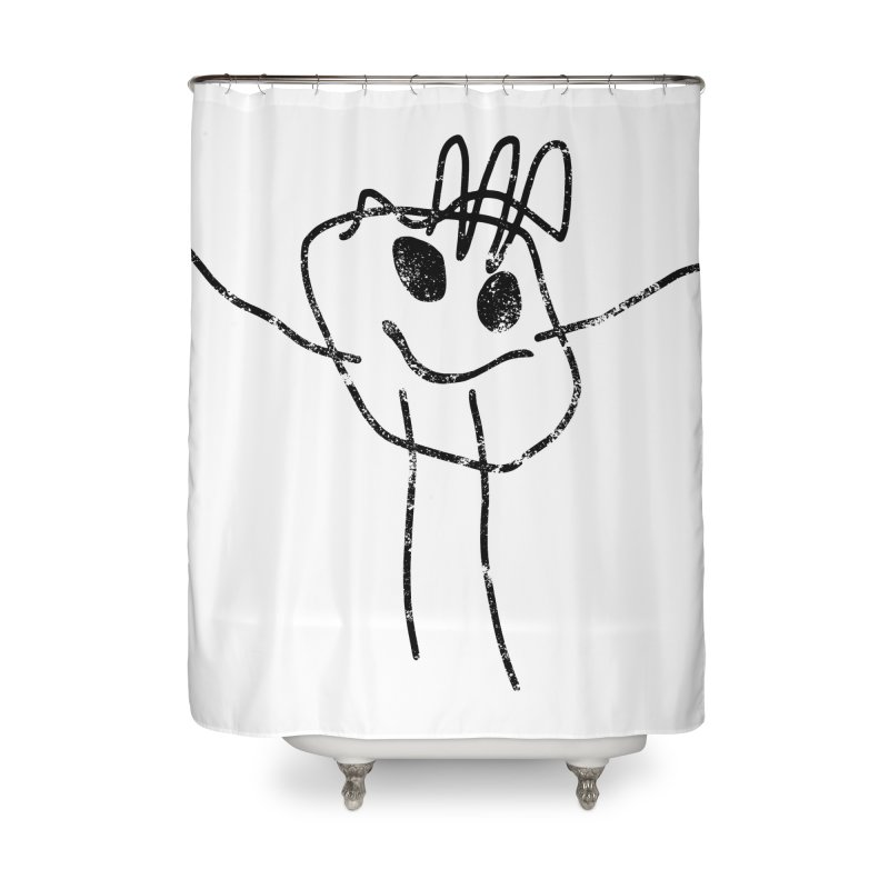 Smilie Man Home Shower Curtain by Project M's Artist Shop