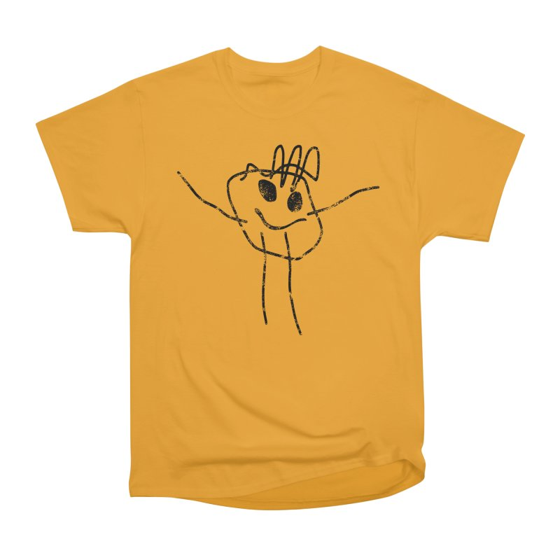 Smilie Man Men's Heavyweight T-Shirt by Project M's Artist Shop