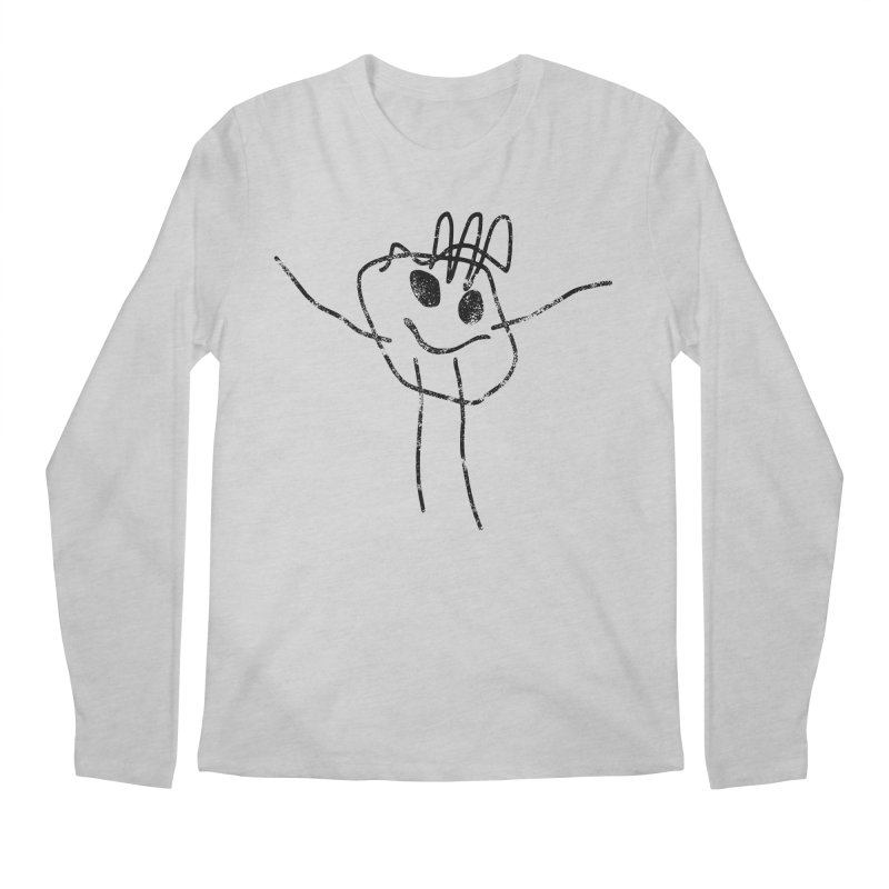 Smilie Man Men's Regular Longsleeve T-Shirt by Project M's Artist Shop