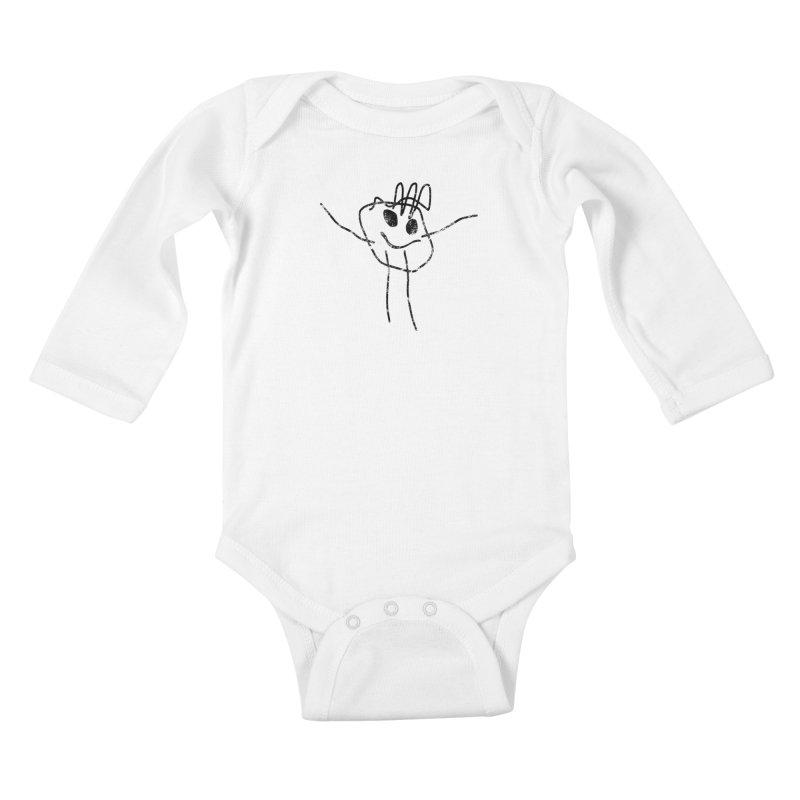 Smilie Man Kids Baby Longsleeve Bodysuit by Project M's Artist Shop