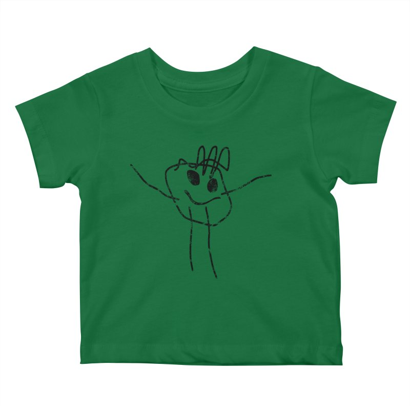 Smilie Man Kids Baby T-Shirt by Project M's Artist Shop