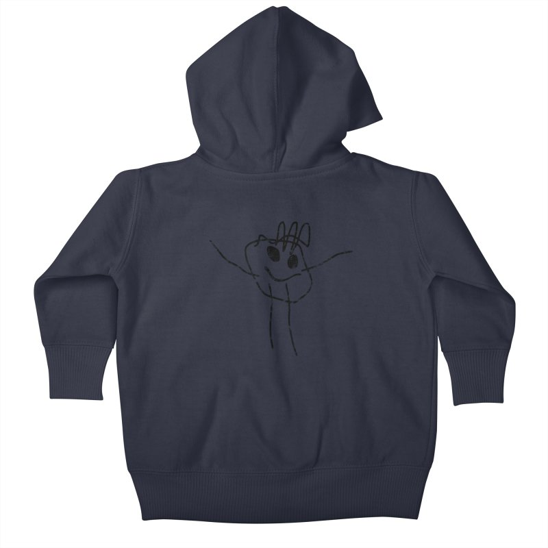 Smilie Man Kids Baby Zip-Up Hoody by Project M's Artist Shop