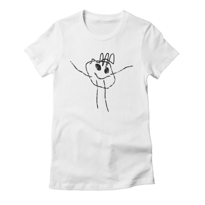 Smilie Man Women's Fitted T-Shirt by Project M's Artist Shop