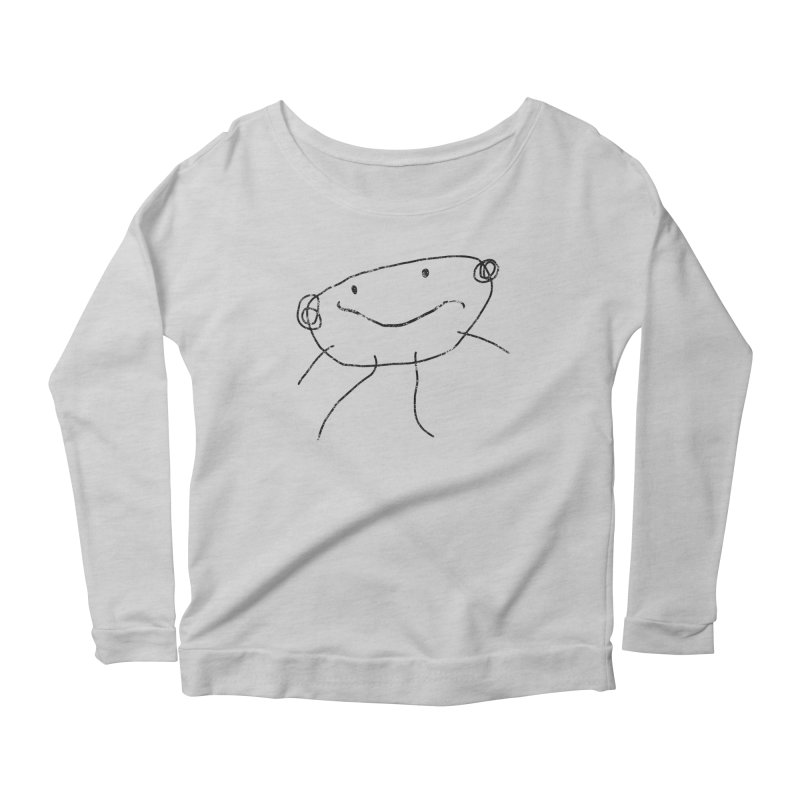 Smilie Man 2 Women's Scoop Neck Longsleeve T-Shirt by Project M's Artist Shop