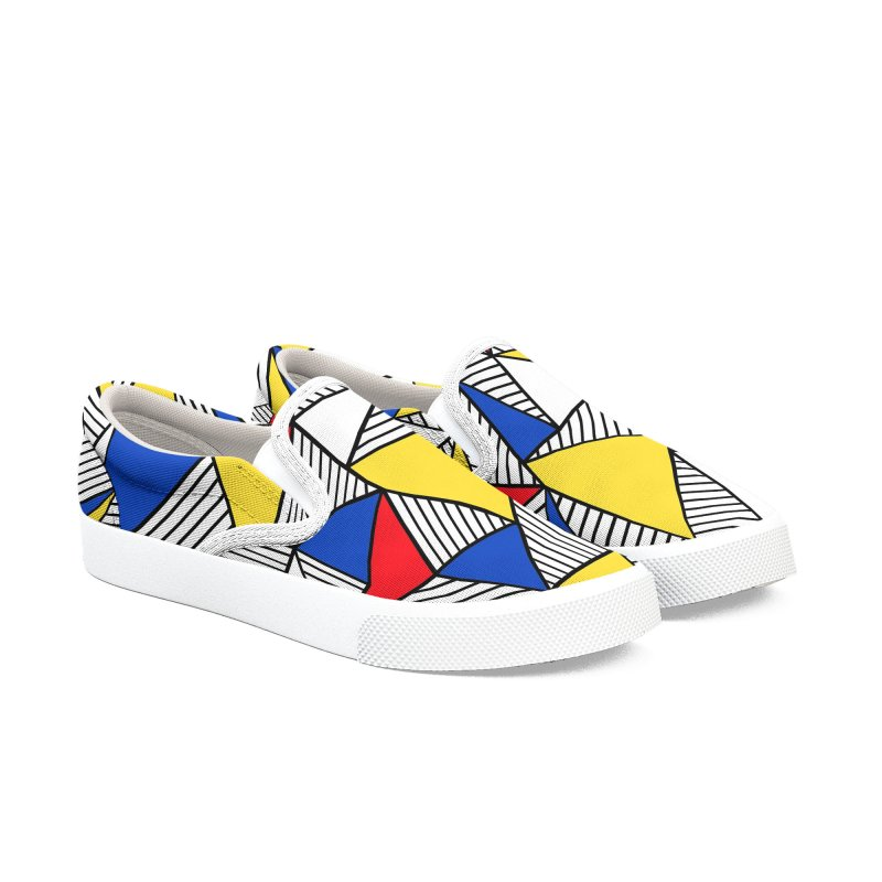 Ab Blocks Mond Men's Slip-On Shoes by Project M's Artist Shop