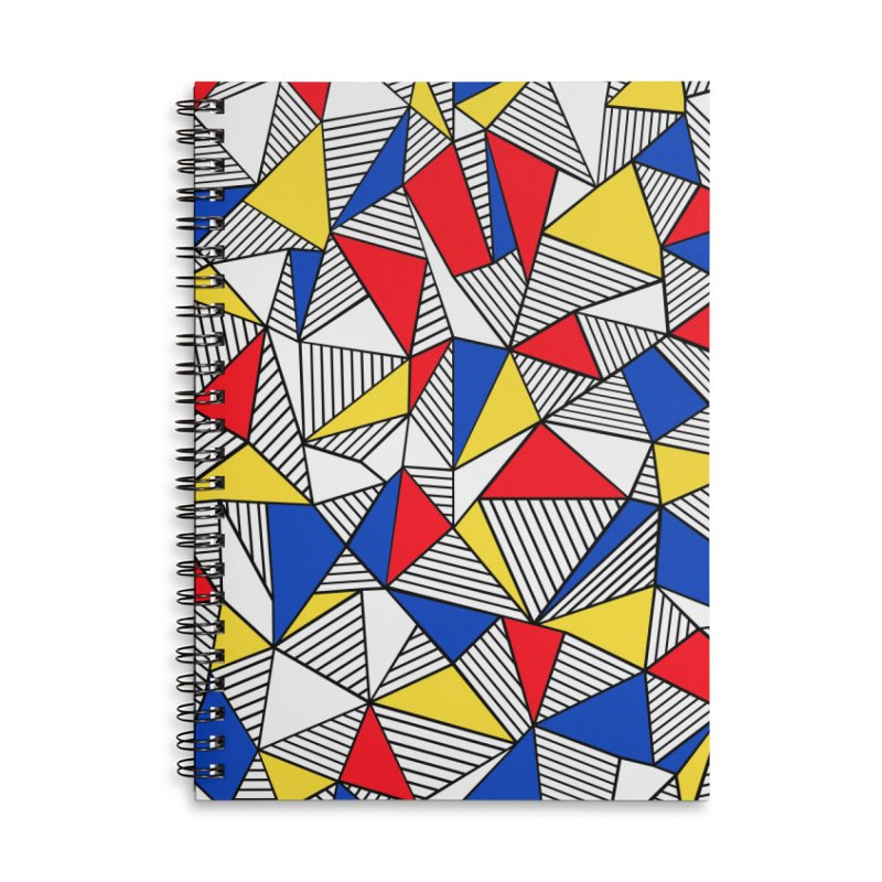 Ab Blocks Mond Accessories Lined Spiral Notebook by Project M's Artist Shop