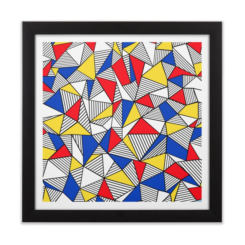 Ab Blocks Mond Home Framed Fine Art Print by Project M's Artist Shop