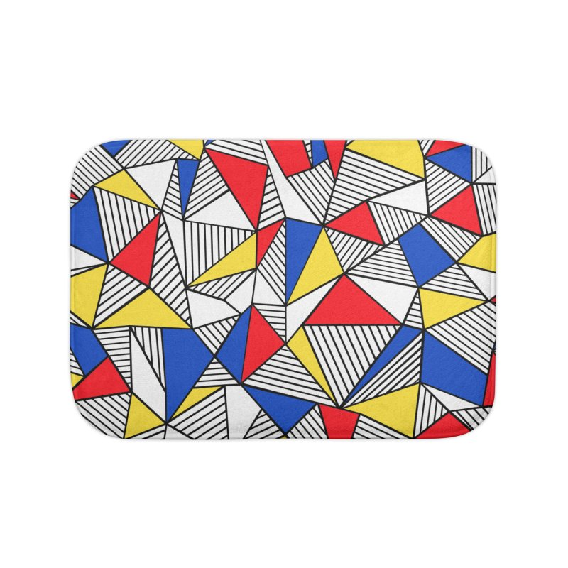 Ab Blocks Mond Home Bath Mat by Project M's Artist Shop