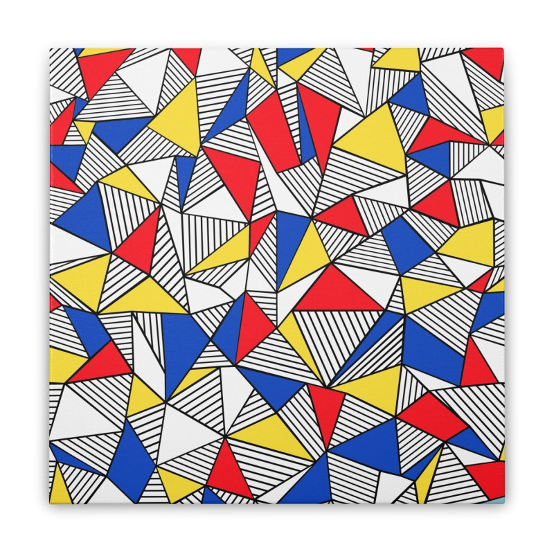 Ab Blocks Mond Home Stretched Canvas by Project M's Artist Shop