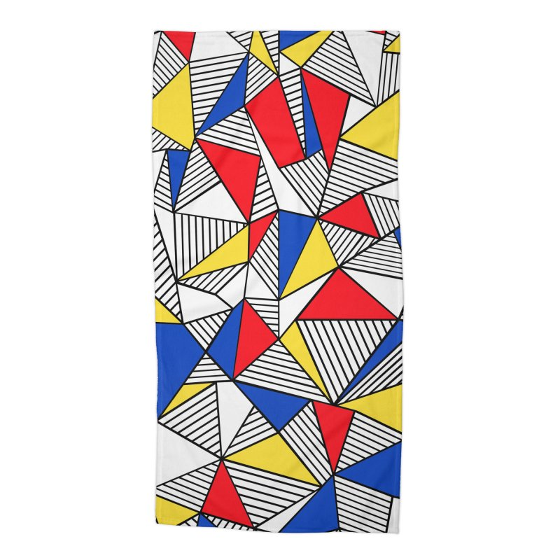 Ab Blocks Mond Accessories Beach Towel by Project M's Artist Shop