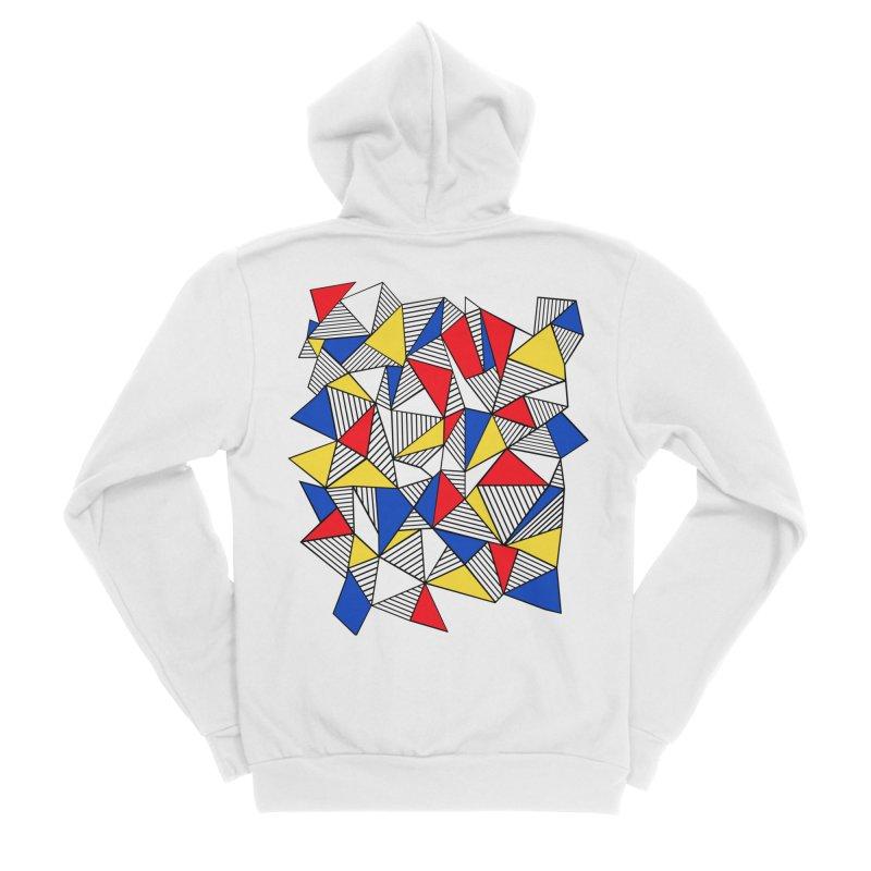 Ab Blocks Mond Men's Sponge Fleece Zip-Up Hoody by Project M's Artist Shop