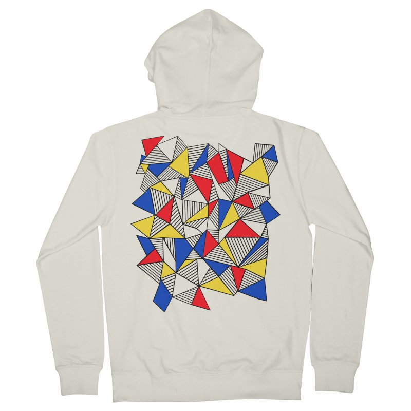 Ab Blocks Mond Women's French Terry Zip-Up Hoody by Project M's Artist Shop