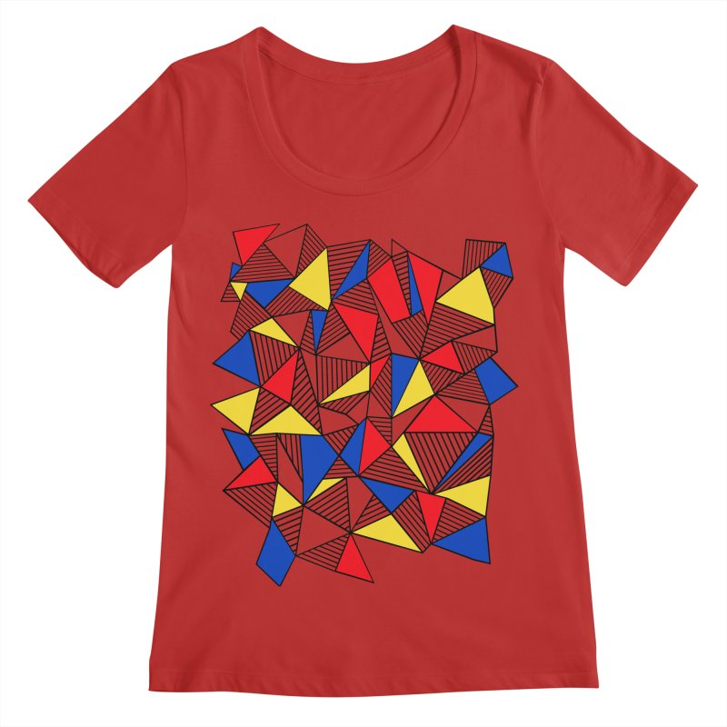 Ab Blocks Mond Women's Regular Scoop Neck by Project M's Artist Shop