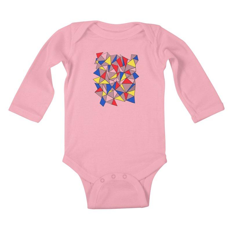 Ab Blocks Mond Kids Baby Longsleeve Bodysuit by Project M's Artist Shop