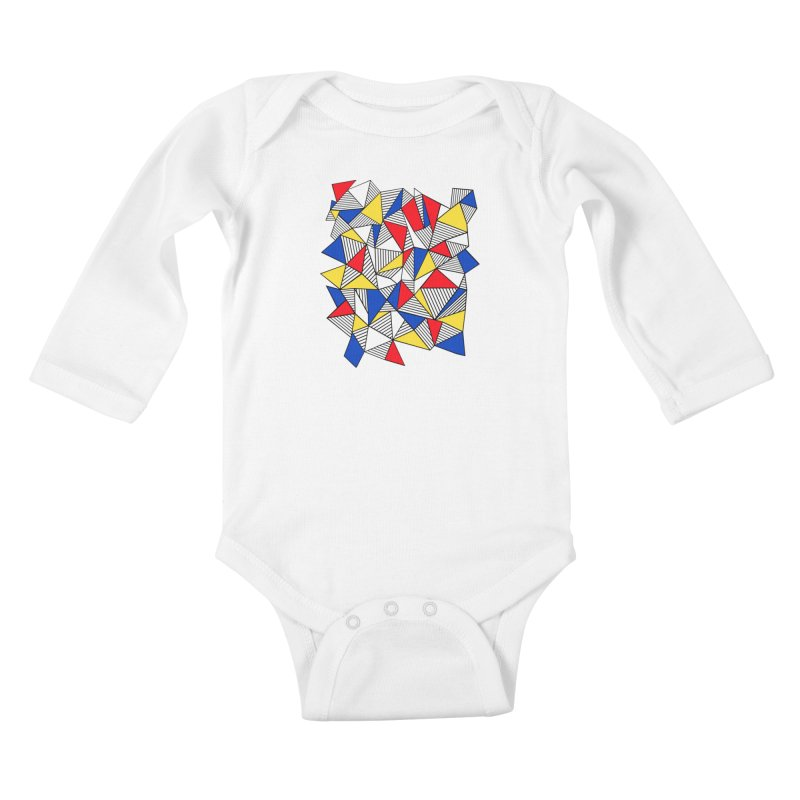 Ab Blocks Mond Kids Baby Longsleeve Bodysuit by Project M's Artist Shop