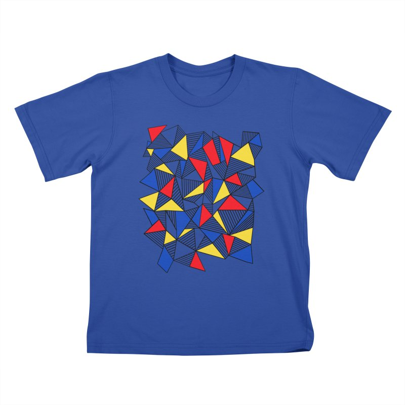 Ab Blocks Mond Kids T-Shirt by Project M's Artist Shop