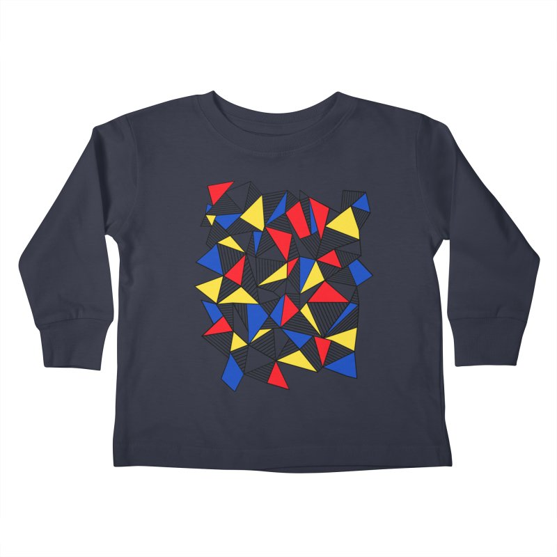 Ab Blocks Mond Kids Toddler Longsleeve T-Shirt by Project M's Artist Shop