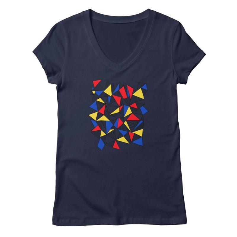 Ab Blocks Mond Women's Regular V-Neck by Project M's Artist Shop