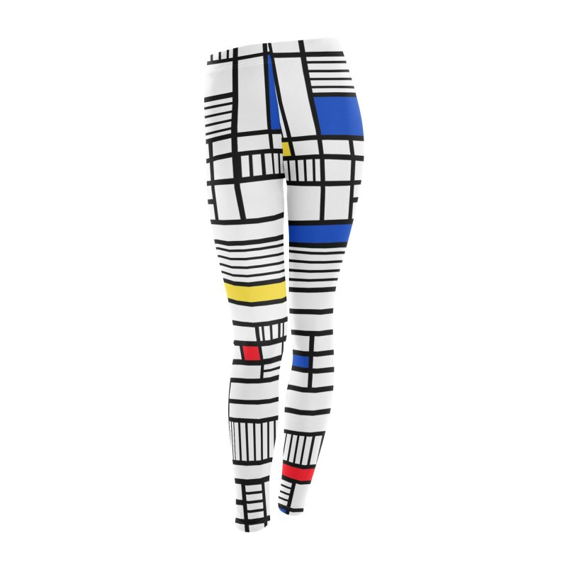 Map Lines Mond Women's Leggings Bottoms by Project M's Artist Shop