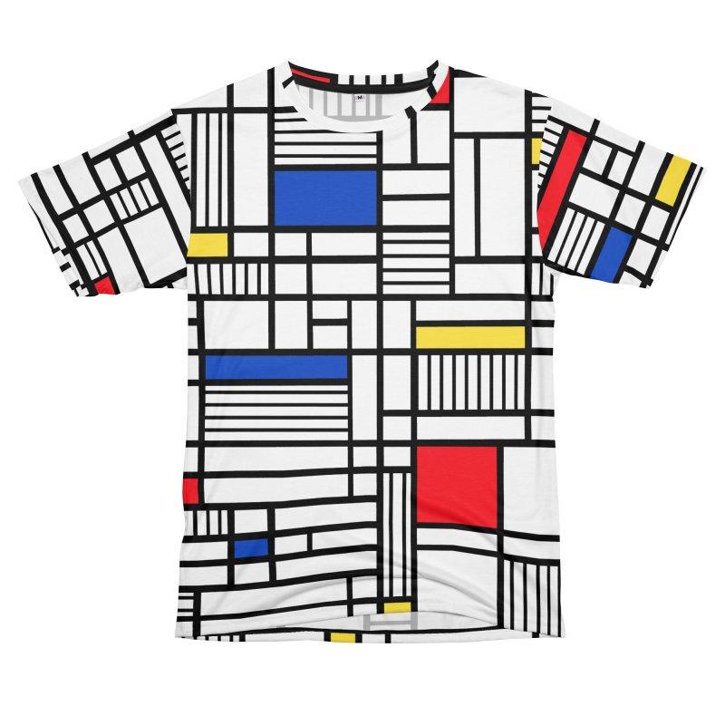 Map Lines Mond Men's Cut & Sew by Emeline