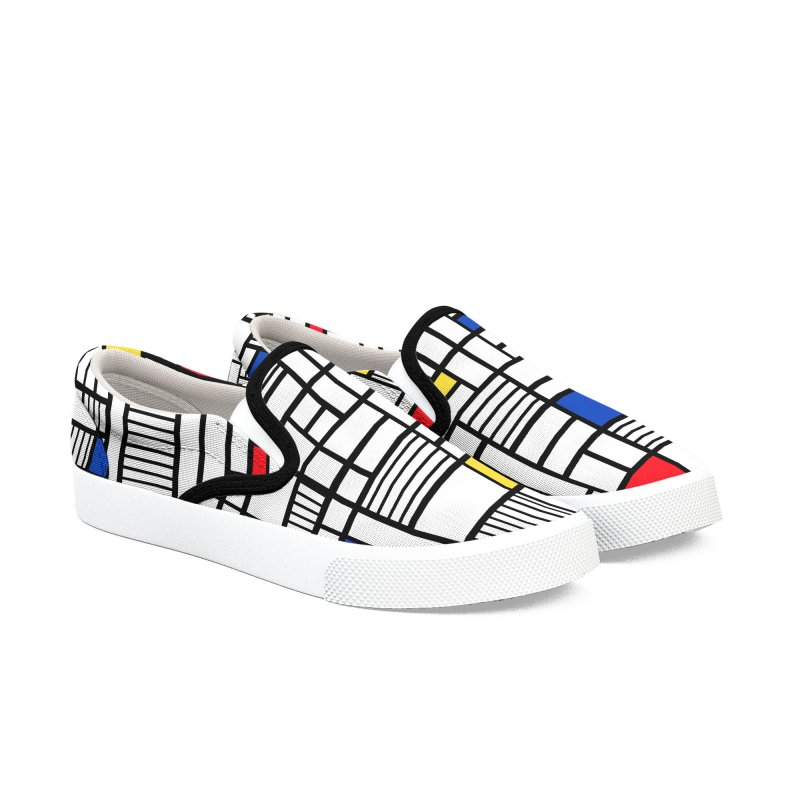 Map Lines Mond Women's Slip-On Shoes by Project M's Artist Shop