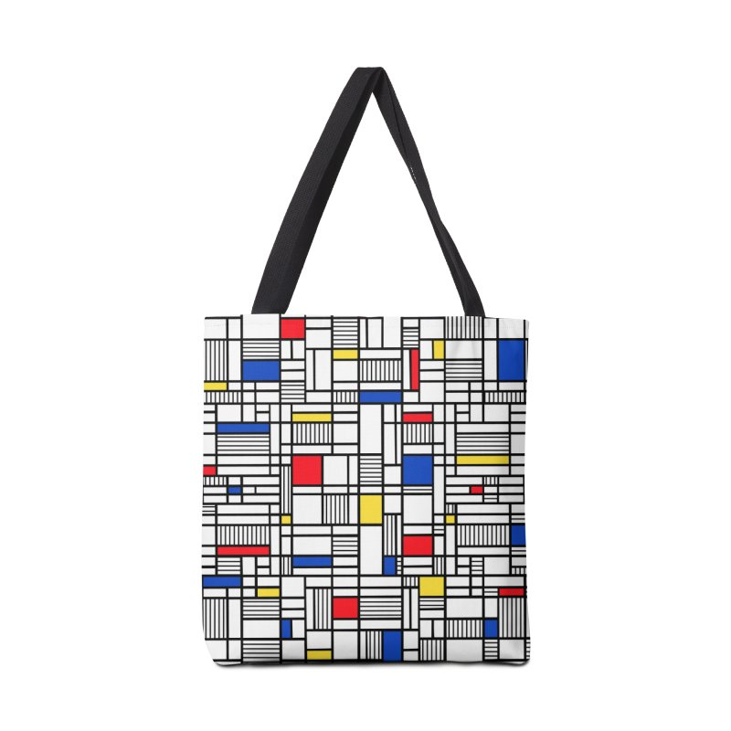 Map Lines Mond Accessories Tote Bag Bag by Project M's Artist Shop