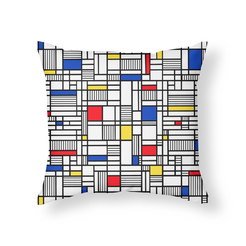 Map Lines Mond Home Throw Pillow by Project M's Artist Shop
