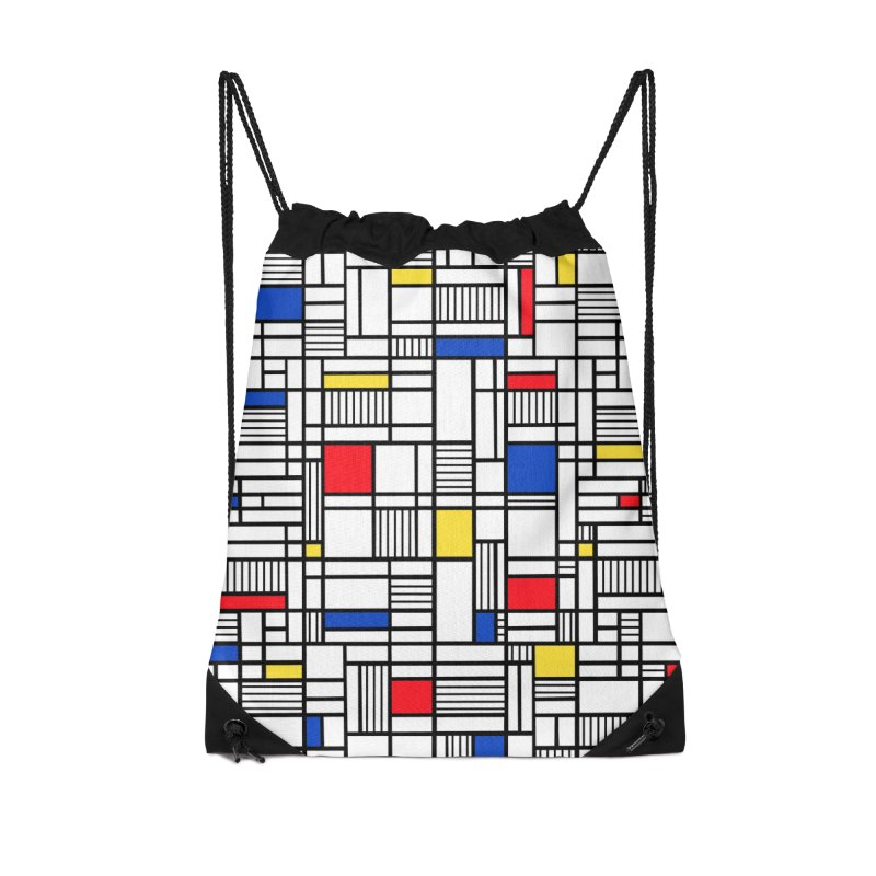 Map Lines Mond Accessories Drawstring Bag Bag by Project M's Artist Shop