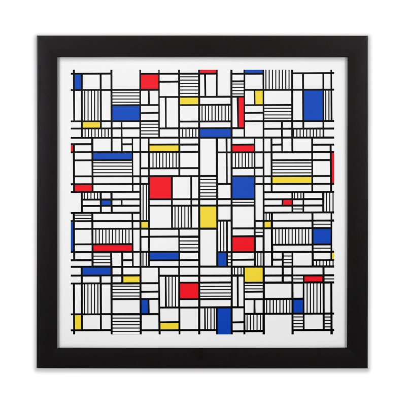 Map Lines Mond Home Framed Fine Art Print by Project M's Artist Shop