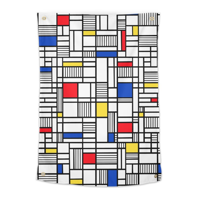 Map Lines Mond Home Tapestry by Project M's Artist Shop