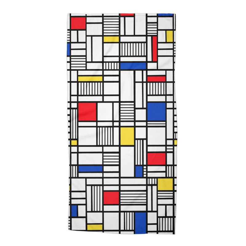 Map Lines Mond Accessories Beach Towel by Project M's Artist Shop