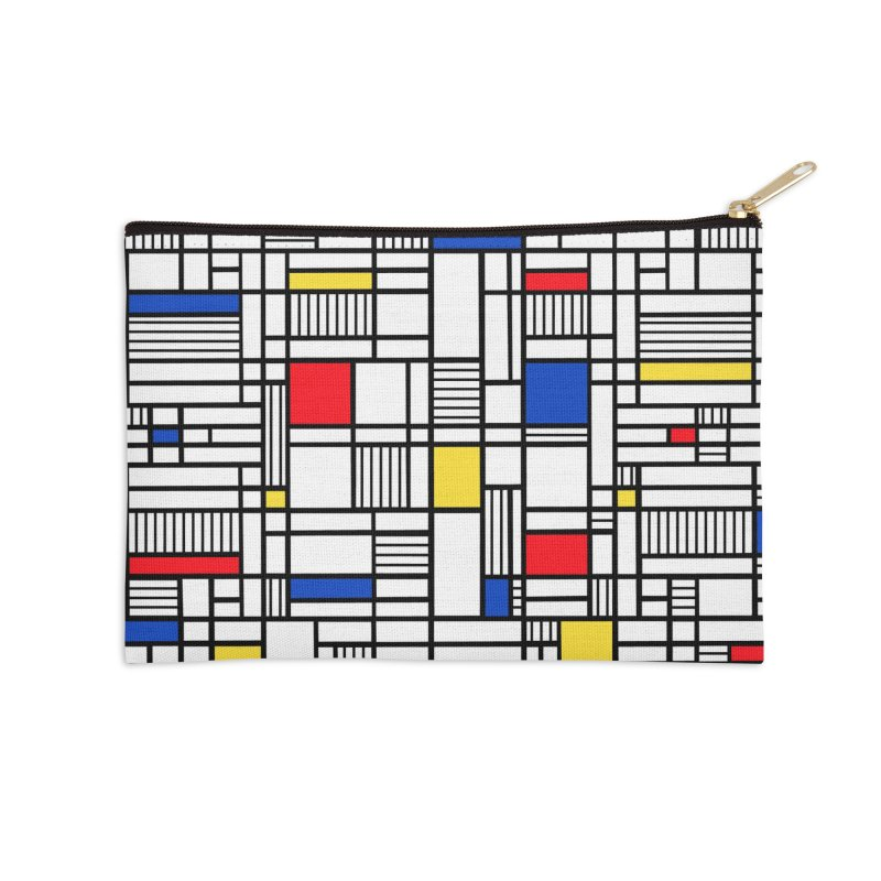 Map Lines Mond Accessories Zip Pouch by Project M's Artist Shop