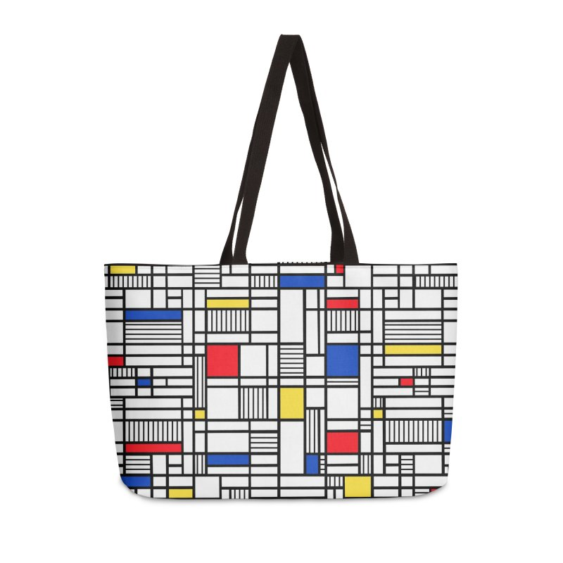 Map Lines Mond Accessories Weekender Bag Bag by Project M's Artist Shop