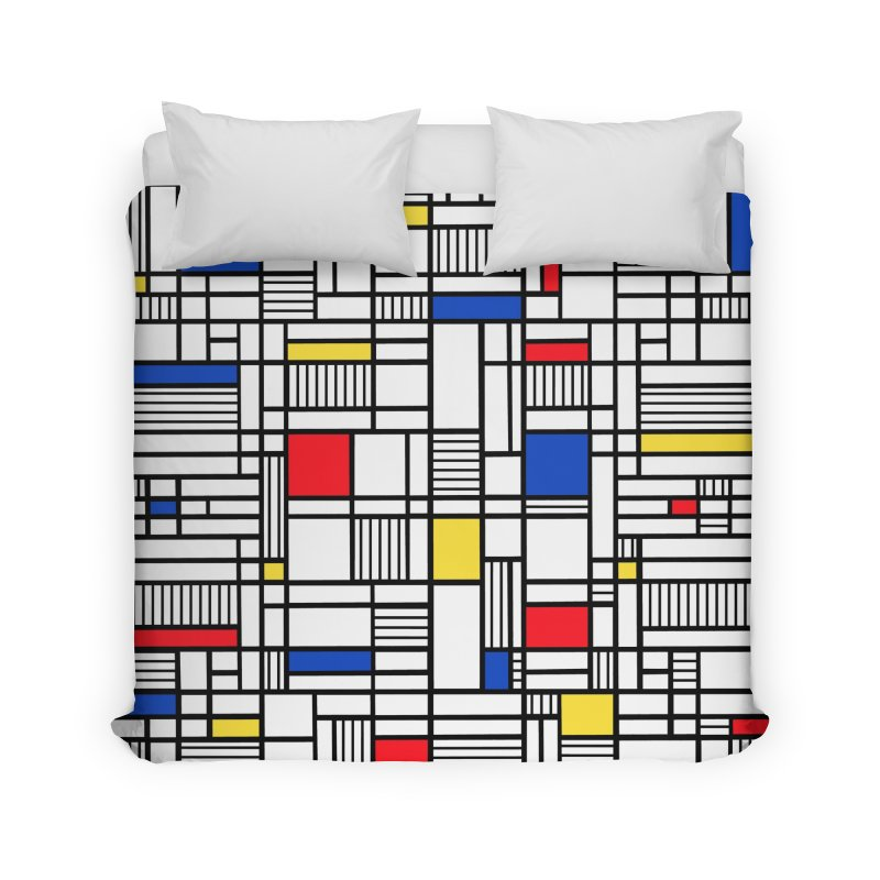 Map Lines Mond Home Duvet by Project M's Artist Shop