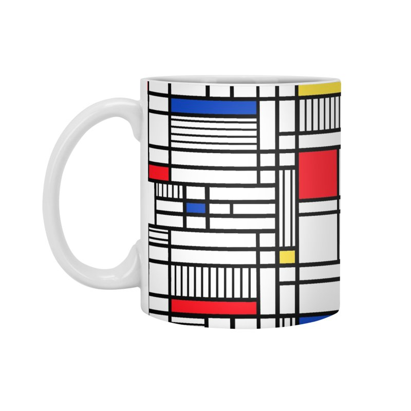 Map Lines Mond Accessories Mug by Project M's Artist Shop