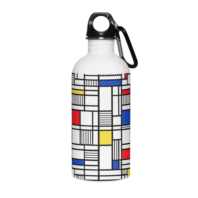 Map Lines Mond Accessories Water Bottle by Project M's Artist Shop