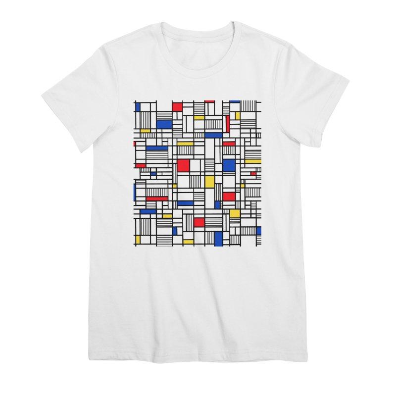 Map Lines Mond Women's Premium T-Shirt by Project M's Artist Shop