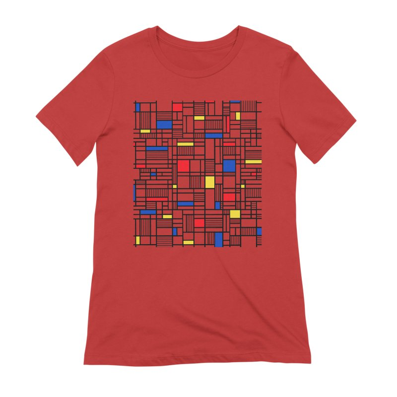 Map Lines Mond Women's Extra Soft T-Shirt by Project M's Artist Shop